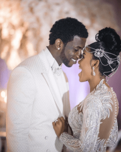 Gucci Mane and Keyshia Kaoir's Wedding Mr and Mrs Davis #TheManeUnion Groom and Groomsmen in white LoveWeddingsNG